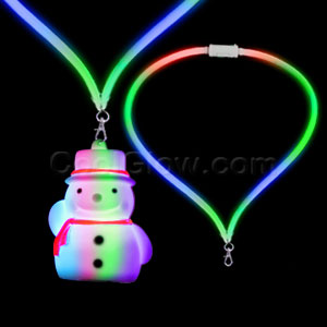 LED Flashing Lanyard - Snowman