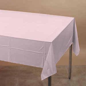 Baby Pink Plastic Tablecover