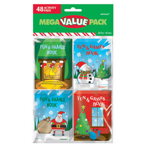 Christmas Fun Activity Pads- 48ct