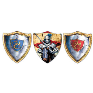 Valiant Knight Cutout Assortment - 3ct