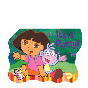 Dora Invitations- 8ct