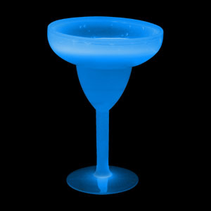 Glow Margarita Glass 10 oz. - Blue