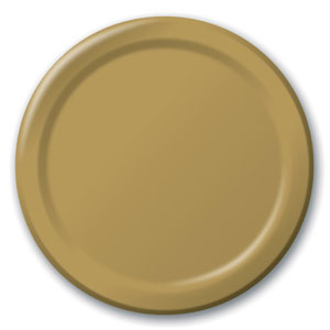 Gold 9 Inch Plates