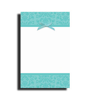Robin's Egg Blue Imprintable Invitations- 12ct