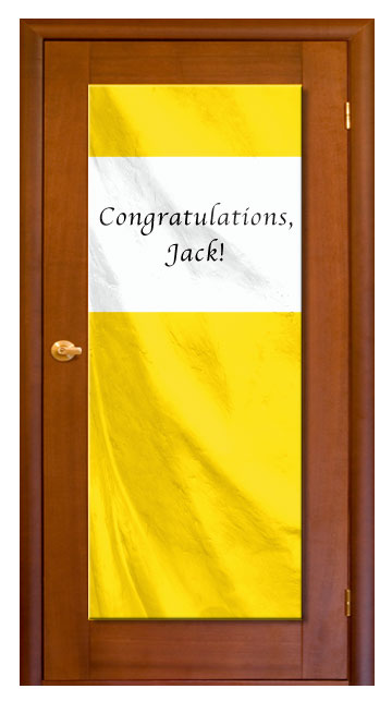 Yellow - Custom Door Banner