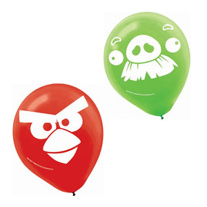 Angry Birds Printed Latex Balloons- 6ct
