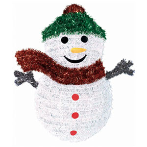 Snowman Tinsel Wreath- 19 Inch