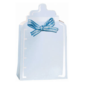Bottle Baby Shower Favor Box Kit - Blue