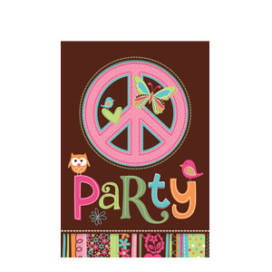 Hippie Chick Invitations- 8ct