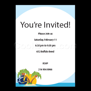 Island at Sea - Custom Invitations