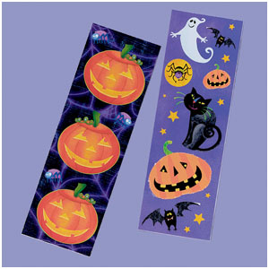 Halloween Fun Sticker Strips- 8ct