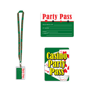 Casino Party Pass- 25in