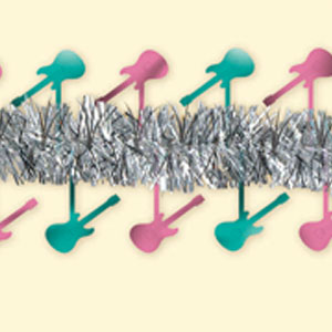 Rock and Roll Tinsel Garland- 15ft
