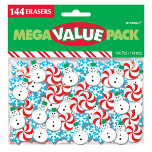 Christmas Erasers- 144ct