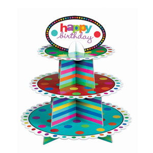 Birthday Cupcake Stand-14in
