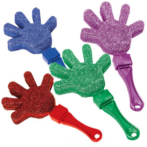 Glitter Hand Clapper- Jewel Tones 12ct
