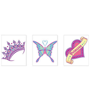 Assorted Princess Tattoos- 24ct
