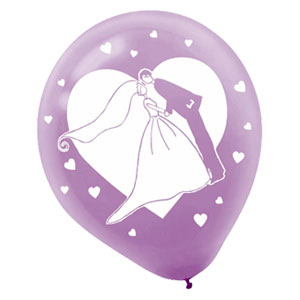 Bride & Groom Bridal Balloon - 12 Inch 20 Ct