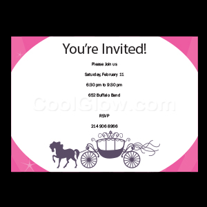 Horse and Carriage - Custom Invitations