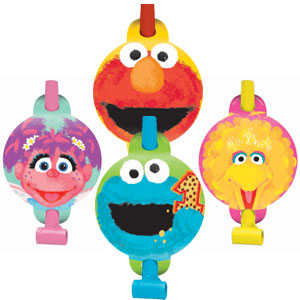 Sesame Street 1st Birthday Blowouts - 8ct