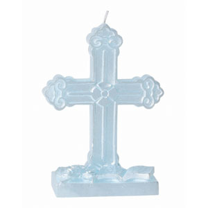 Blue Cross Molded Candle- 5in
