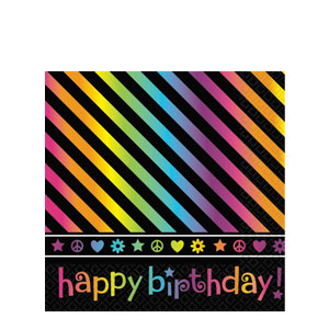 Neon Birthday Luncheon Napkins- 16ct