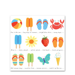 Sunshine Icons Luncheon Napkins- 16ct