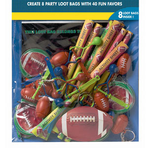 Championship Football Favor Pack- 48pc