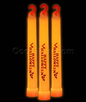 6 inch premium happy halloween glow sticks orange - Glow Sticks For Halloween