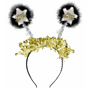 Light Up New Years Head Bopper- 10 Inch