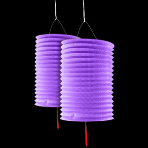 Paper Lanterns - Purple