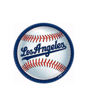 Los Angeles Dodgers 9 Inch Plates- 18ct