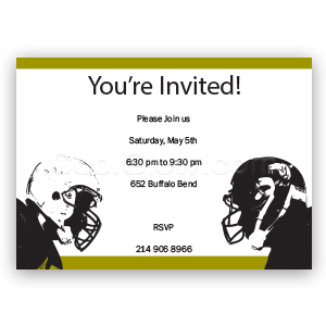 Football Players - Custom Invitations