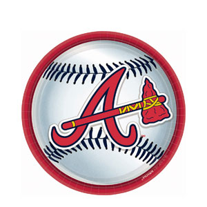 Atlanta Braves 9 Inch Plates- 18ct