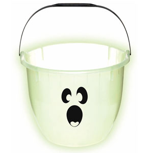 Glow-in-the-Dark Ghost Pail- 9in