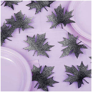 Glitter Leaf Sprinkles- 24ct