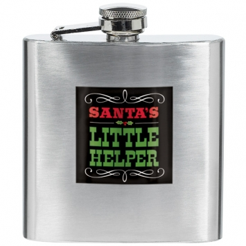 Metal Christmas Flask