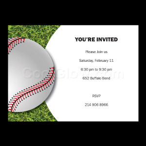 Turf Baseball - Custom Invitations