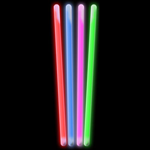 Fun Central V79 10 Inch Glow in the Dark Sticks - Assorted