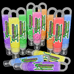 Glominex Glitter Glow Paint 1 oz Tubes - Assorted 12ct