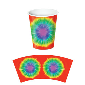 Tie-Dyed Beverage Cups - 9oz 8ct