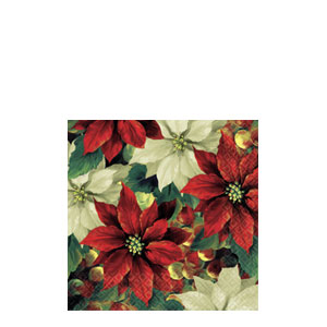 Regal Poinsettia Beverage Napkins