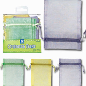 Baby Shower Organza Favor Bags - Multi