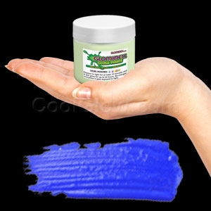 Glominex Glow Paint Invisible Day 4 oz Jar Blue
