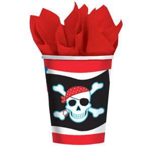 Pirate Party 9 oz. Cups- 8ct