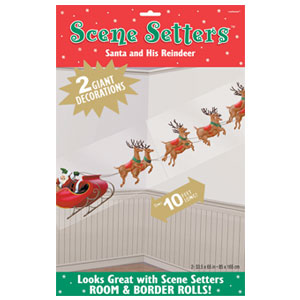 Santa and Reindeer Scene Setter Add-On
