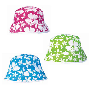Hibiscus Fabric Hats