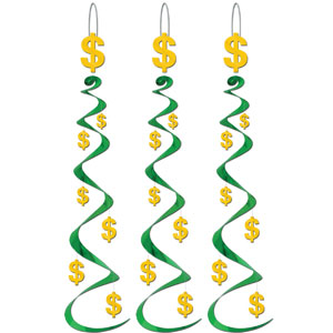 Dollar Sign Whirls- 3ct