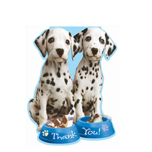 Party Pups Thank You Cards- 8ct