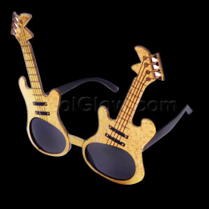 Fun Central D528 Gold Guitar Sunglasses